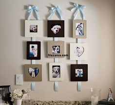 Make These Pretty & Functional Ribbon Hanging Frames Ribbon Hanging Picture Frames 12 – Fab You Bliss Hanging Picture Frames, Hanging Pictures, Display Pictures, Marco Diy, Diy Foto, Frame Display, Display Ideas, Diy Ribbon, Diy Frame