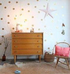 Gold spots! love this whimsy but my girls may think it's too young for their room.