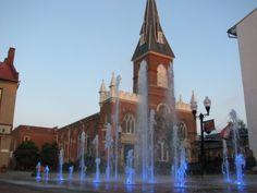 Winchester Pedestrian Mall splash pad by Augusta Aquatics.