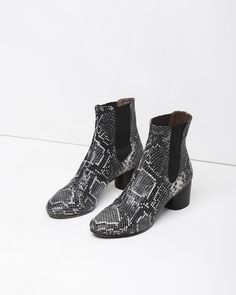 ISABEL MARANT | Danae Python Printed Leather Boot | Shop at La Garçonne