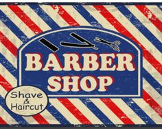 Vintage Barber Shop Metal Sign A5 Size no by TheMetalSignShack