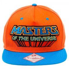 7f053fbe889 Masters Of The Universe Logo Flat Brim Snapback Baseball Cap Hat Caps Hats