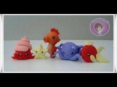 Tutorial Animais Marinhos Chibi - Siri, Estrela do Mar, Cavalo Marinho, Polvo e Peixe - YouTube