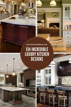 Luxury Kitchen See 134 incredible luxury kitchens (photo gallery) Luxury Kitchen Design, Best Kitchen Designs, Luxury Kitchens, Cool Kitchens, Living Room Kitchen, Home Decor Kitchen, New Kitchen, Kitchen Paint, Layout Design