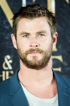 I could look at him all day long and never want to look away for a second. Chris Hemsworth
