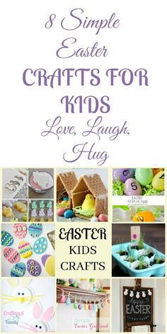 8 Super Simple Easter Crafts for Kids ~ Craftingafamily.com