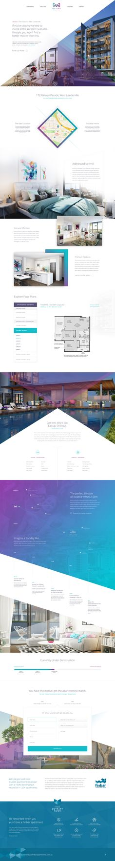 Motive Apartments – Ui design concept and visual treatments by Kylie Timpani @Human.