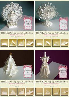 Hiroko - Handmade 3D Paper Sculpture Collection