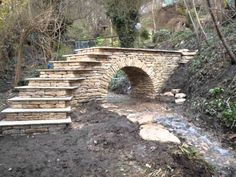 Dry stone bridge built in Gloucestershire. From start to finish. I have no rights on the soundtrack taken from True Romance Your& So Cool Done by Hans Zimm. Dry Stone, Brick And Stone, Stone Work, Stone Walls, Garden Gates, Garden Bridge, Garden Structures, Outdoor Structures, Stone Retaining Wall