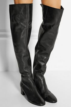 Heel measures approximately 45mm/ 2 inches Black leather  Concealed zip fastening along side