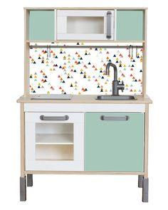 "Sticker Set ""TRIANGLIG"": Pimp je Ikea DUKTIG spelen keuken (1W-SK03-03) - meubels niet inbegrepen"