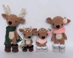 Deer Family Crochet Amigurumi Pattern / Photo Tutorial