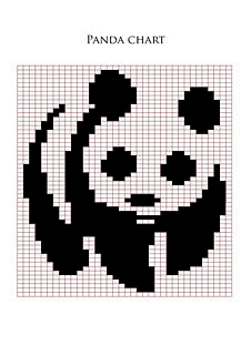 A panda chart! Place on your fave sweater pattern, make a pillow, etc. Knitting Charts, Baby Knitting Patterns, Knitting Stitches, Small Cross Stitch, Cross Stitch Designs, Cross Stitch Patterns, Intarsia Patterns, Embroidery Patterns, Crochet Panda