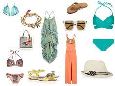 The Stylish Dresser tropical inspiration,   bikinis, sunnies, flip flops