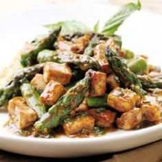 Tofu & Roasted Asparagus Recipe. Wrap it up using Absolutely Gluten Free Flatbread. www.absolutelygf.com #AbsolutelyGF #Glutenfree #Recipes #Tofu #Flatbread