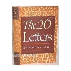 The 26 Letters: overview of the history of writing and printing--the most recent edition touches on the very beginning of computer-driven typography. Great book for children and adults alike.