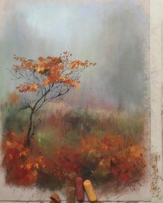 Осень #пастель #рисуюпастелью #арт #осень #золотаяосень #softpastel #softpastels #schmincke #cansonpaper #canson #autumn