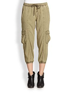 Bella Dahl Cropped Cargo Pants