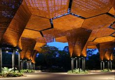 The 'Colombia: Transformed/Architecture=Politics' exhibition traces significant new projects that exemplify innovative architectural forms and spaces while serving as conduits for social inclusion. Taking place at the Center for Architecture in New York from July 11-October 26.  Photo: Botanical Garden, Orchids Pavillion, Plan b + JPRCR Architects. Photo credit: Sergio Gomez