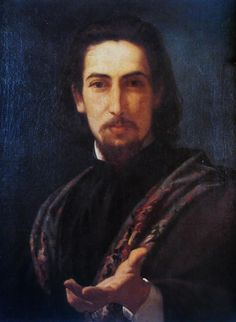 Candid portrait of Caetano de Almeida Reis by Pedro Americo
