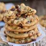 Got ripe bananas? These easy Peanut Butter Banana Chocolate Chip Cookies are WAY more fun than making banana bread and so delicious too! Peanut Butter Banana Cookies, Banana Chocolate Chip Cookies, Peanut Butter Truffles, Mint Chocolate Chips, Chocolate Peanut Butter, Banana Bread Recipes, Fudge Recipes, Cookie Recipes, Dessert Recipes