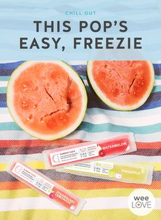 We're declaring this the official new snack for summer. These organic, all-natural freeze pops from Sunday Cats are ideal for little hands and thanks to the electrolytes, a cool treat for expecting mamas.