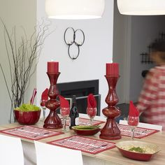 Give your table top a roaring red makeover this Autumn / Winter!