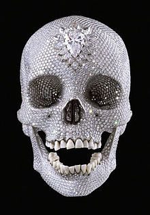 For the Love of God, Damien Hirst, 2007. Platinum, diamond, human teeth. White Cube Gallery, London. Cost £14 million to produce.