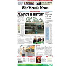 #FallRiver #HeraldNews #FrontPage for Tuesday, July 24, 2012.