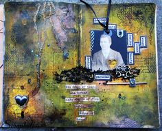 art journal page Asbestos Heart