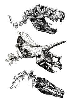 dinosaur tattoos Jurassic Bloom on Behance Piercings, Piercing Tattoo, Jurassic Park Tattoo, Dinosaur Drawing, Dinosaur Art, Dinosaur Life, Dinosaur Sketch, Dinosaur Tracks, Dinosaur Skeleton