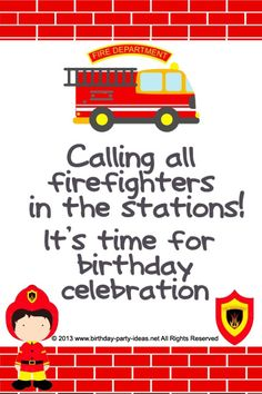 fireman birthday party