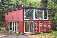 Storage container housing