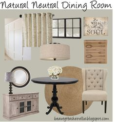 Natural Neutral Dining Room