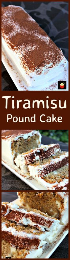 Tiramisu Pound Cake, a soft and delicious pound cake with all the flavors of a Tiramisu! It's even got a mascarpone frosting. This will go fast so be sure to make two! Check out the cream cheese filling too! YUMMY! | Lovefoodies.com