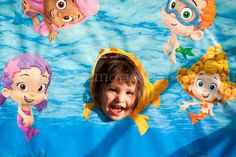 bubble guppies birthday party ideas - Google Search. You must ALWAYS have a photo booth!!!