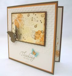 """By Jenny Moors. Card using """"French Foliage"""" by Stampin' Up."""