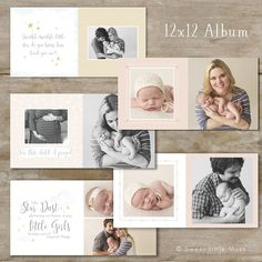 Photo Book Template - Baby Album by SweetLittleMuse on @creativemarket