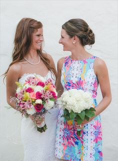 This PA wedding had a unique theme based on the prints of Lilly Pulitzer.