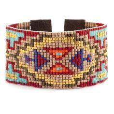 Chan Luu - Red Mix Beaded Cuff Bracelet, $220.00 (http://www.chanluu.com/bracelets/red-mix-beaded-cuff-bracelet/)