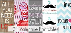 lots more valentines printables