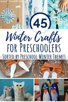 These Winter crafts for preschoolers all fit within some common themes for this age: arctic animals, hibernation, snow/cold and Chinese New Year. Activities For 1 Year Olds, Winter Activities For Kids, Winter Crafts For Kids, Kids Learning Activities, Winter Kids, Preschool Activities, Preschool Winter, Preschool Lessons, Group Activities