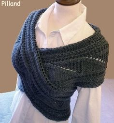 Do you know what a sontag is? This seems to me to be a modern version of a sontag. Pilland created this design andsells the pattern for this shawl. If you don't knit, she might make one f…