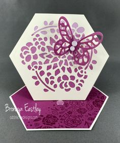 How to Make a Hexagon Easel Card Using the Window Box Thinlits Dies – addinktive designs - incl picture tute Easel Cards, 3d Cards, Pop Up Cards, Stampin Up Cards, Gift Cards, Greeting Cards, Hexagon Cards, Hexagon Box, Fancy Fold Cards