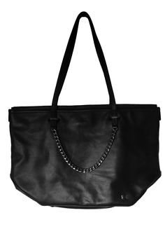 4c7060673489 Halston Heritage Black Leather Handbag Tote