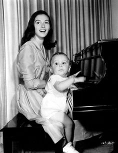Pier Angeli and son