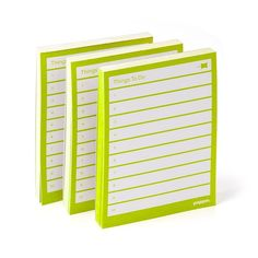 Attrayant Poppin Lime Green Task Pads, Set Of 3 | Desk Accessories | Cool Office  Supplies