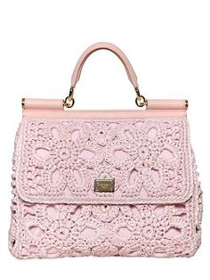 Pink crochet Bag by Dolce and Gabana!Stunning!!