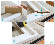 How to Make Frames with Wood Moulding. Step-by-step. I'll use with pegboard for kitchen, maybe something for office, too.