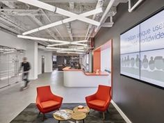 Criteo Offices - New York City - love the modern desk